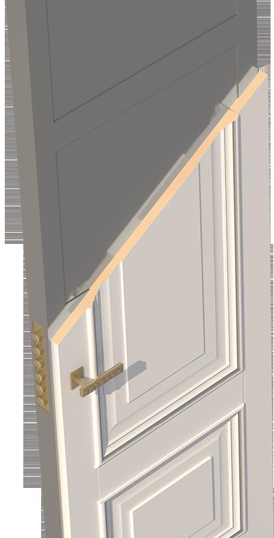 дверь металлическая филенчатая с остеклением
